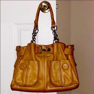 Bodhi Large East to West Camel Cinched Top Satchel